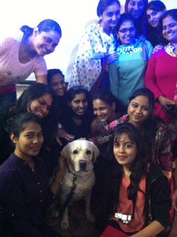 Therapy pets at Sophia College, Mumbai