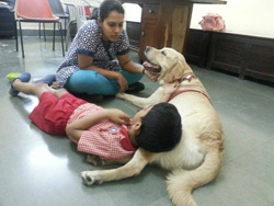Therapy session at St Xavier's school, Bhandup