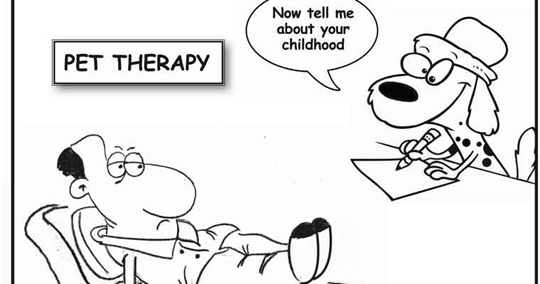 Cartoon on pet therapy