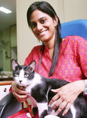 Radhika Nair with her therapet